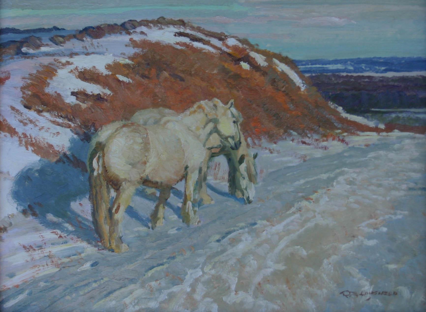 White Horses In Ontar... by  Robert Lougheed - Masterpiece Online
