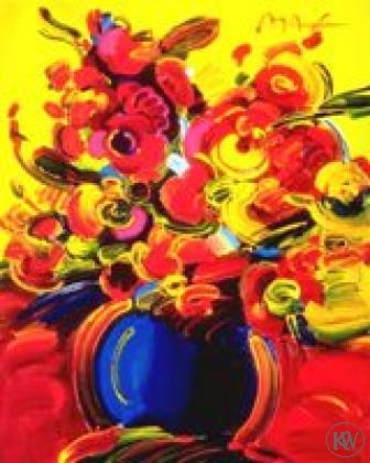 Vase Of Flowers Series 14 By Peter Max Kings Wood Art