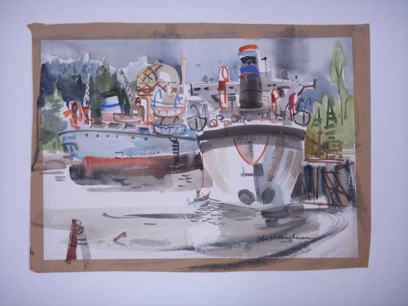 Untitled (Boats) by  John Waddingham - Masterpiece Online