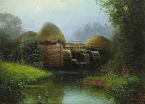 Water Mill by  Alexander Popoff  - Masterpiece Online