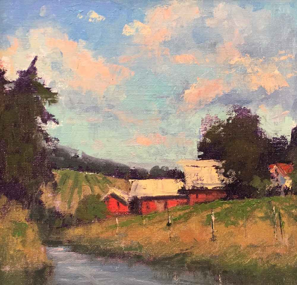 Barn with Pond represented by  by  Romona Youngquist