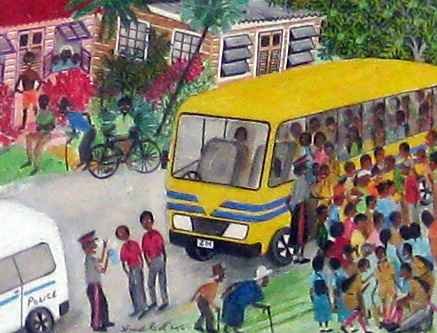 At The Bus Stop by  Ishmael Roett - Masterpiece Online