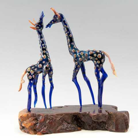 Two Giraffes on Manaz... by  James Spehler - Masterpiece Online