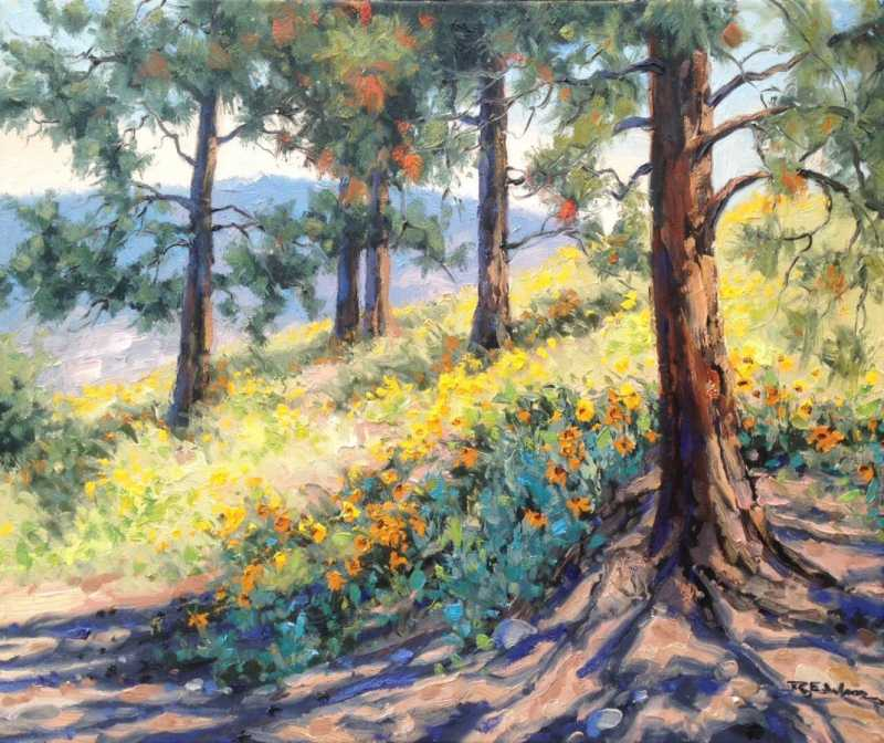 Ponderosa Shadows by  Robert E. Wood - Masterpiece Online