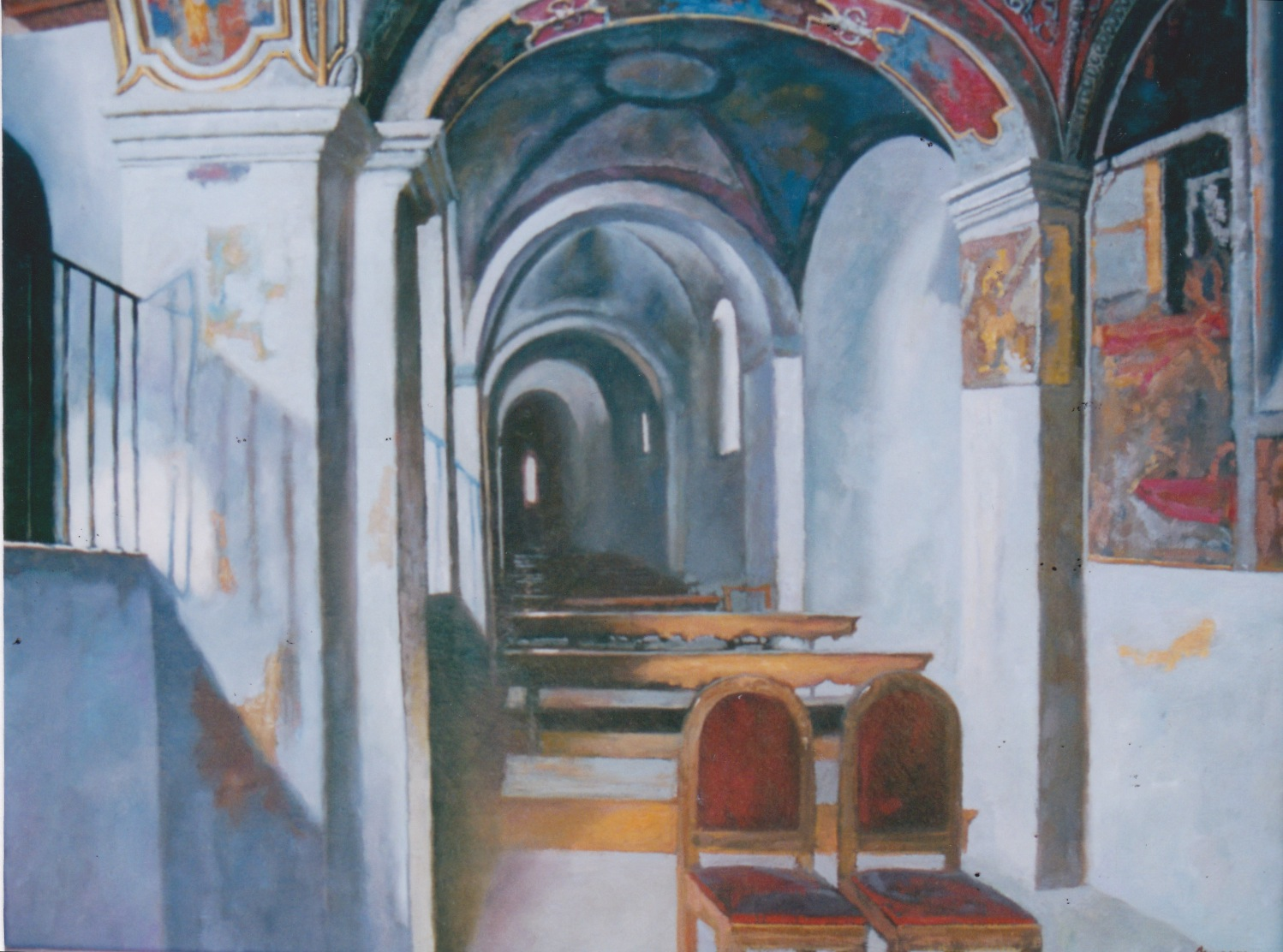 In the Church by  Daud Akhriev - Masterpiece Online