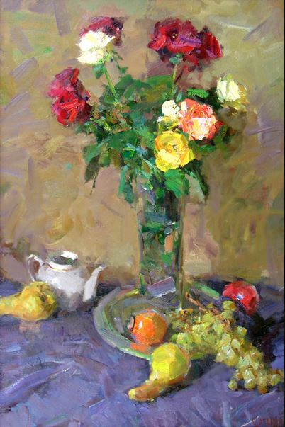 Roses & Fruits by   Shabadei - Masterpiece Online