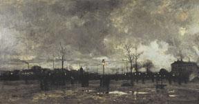 La place animee au cr... by  Luigi  Loir - Masterpiece Online