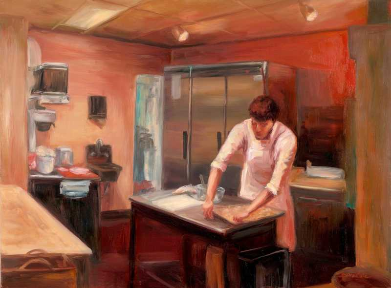 The Pastry Chef  by Mrs Denise Cole - Oils