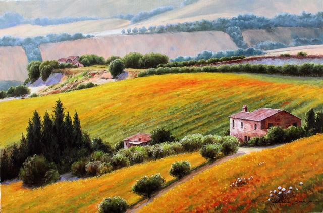 Fields in Bloom by  Soon Ju Choi  - Masterpiece Online