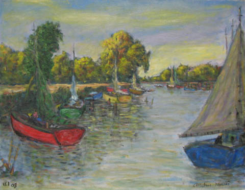 Boats resting at the ... by  Andres  Morillo - Masterpiece Online