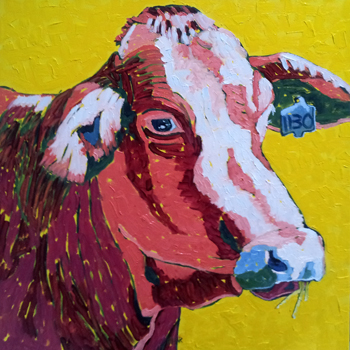 Red Cow, Montecito Ro... by  Char  Michelson  - Masterpiece Online