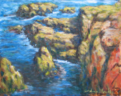 Coast with Rock & Sea by  Andres  Morillo - Masterpiece Online