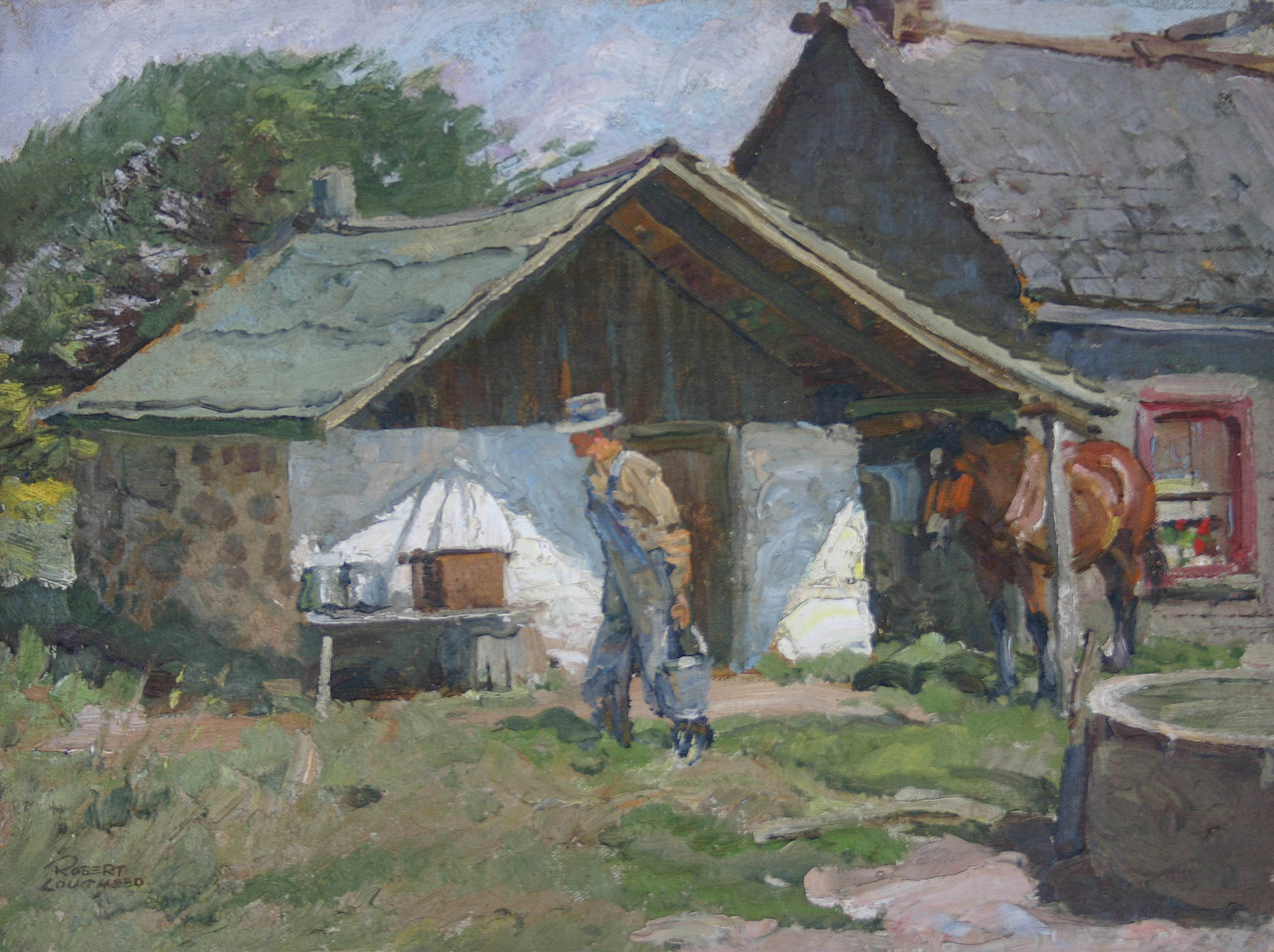 On the Riley Farm by  Robert Lougheed - Masterpiece Online