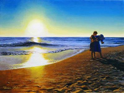 Shelling at Sunset by   Teresa  Wheeler - Masterpiece Online