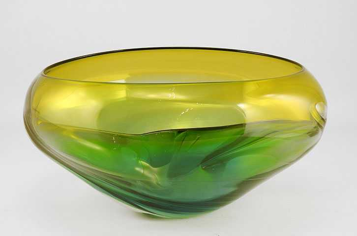 Wave Bowl/Turqoise by  Michelle Kaptur - Masterpiece Online