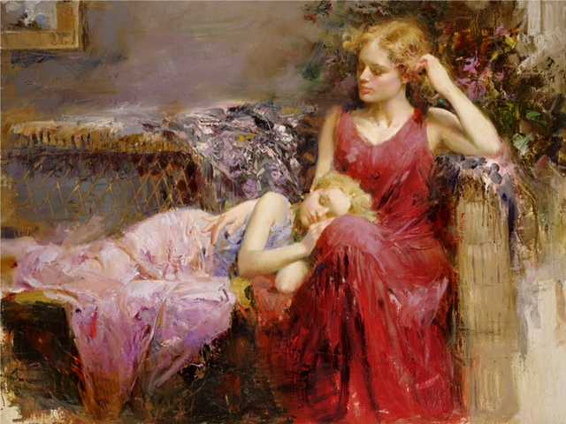 A Mothers Love by  Pino  - Masterpiece Online