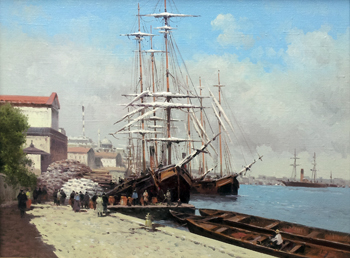 Port of Entry by  Vasily Gribennikov - Masterpiece Online