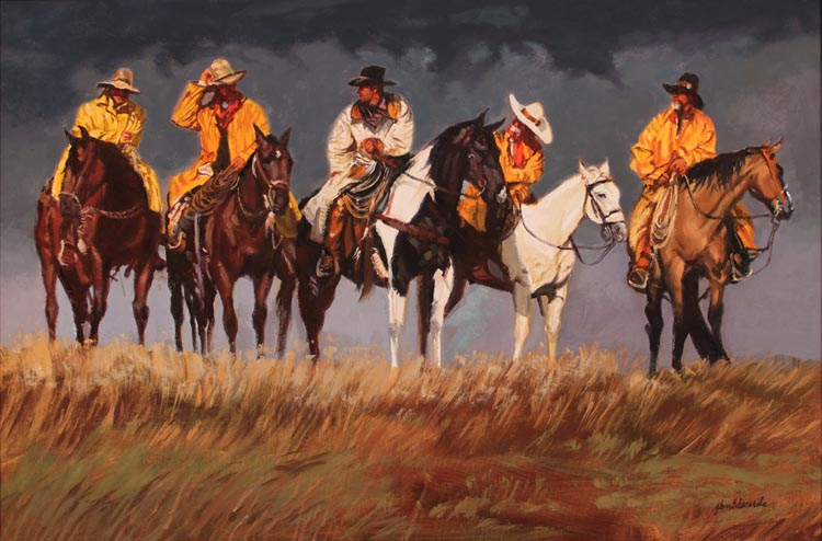 SOLD- Riders From th... by  Glen Edwards - Masterpiece Online