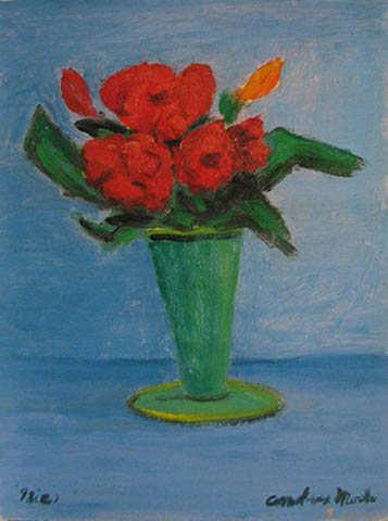 Vase With Red Roses by  Andres  Morillo - Masterpiece Online