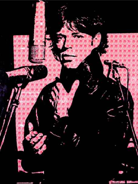 Mick at the Mike  by  Holly Manneck