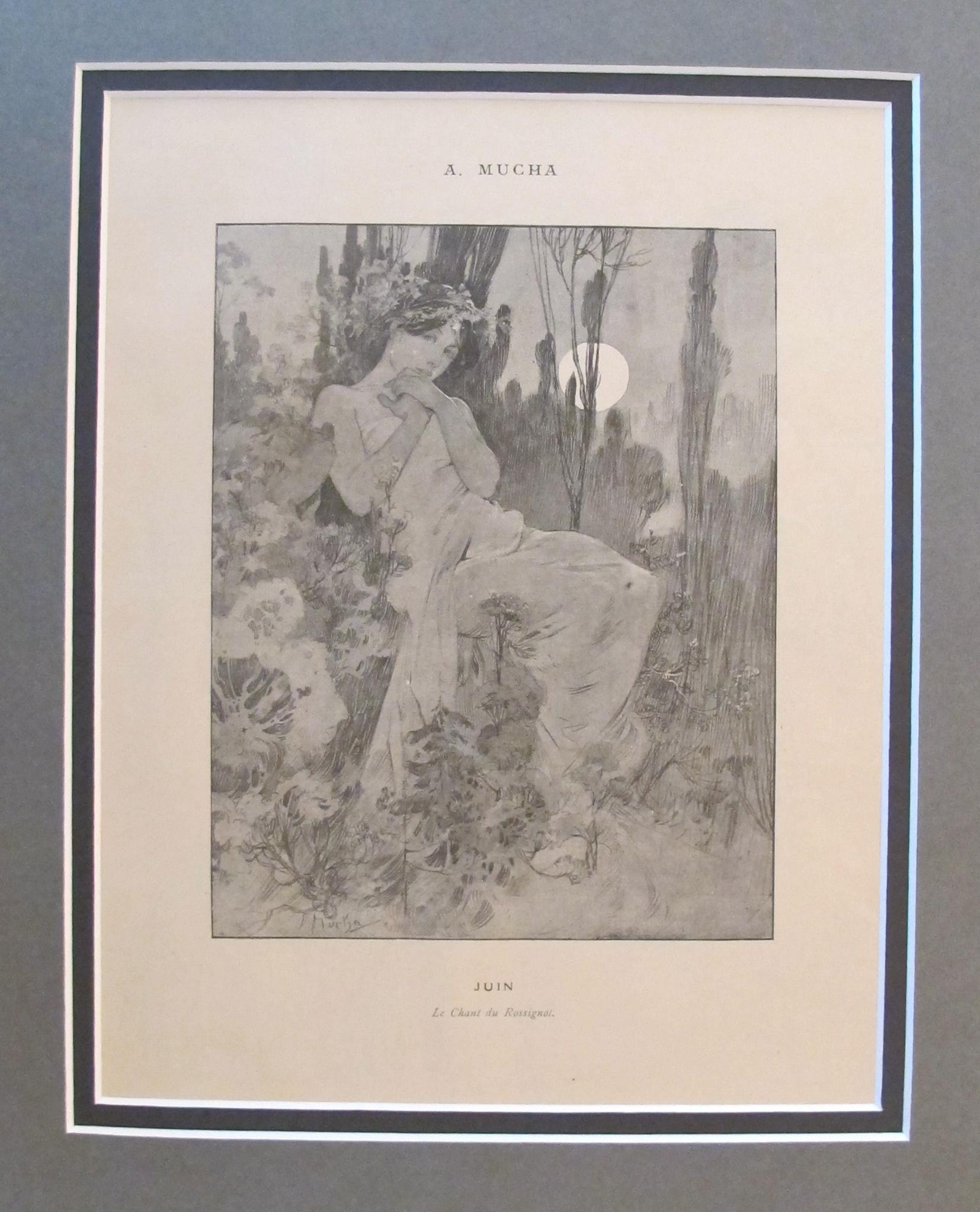 Mucha Cocorico Juin J... by  Alphons Mucha - Masterpiece Online