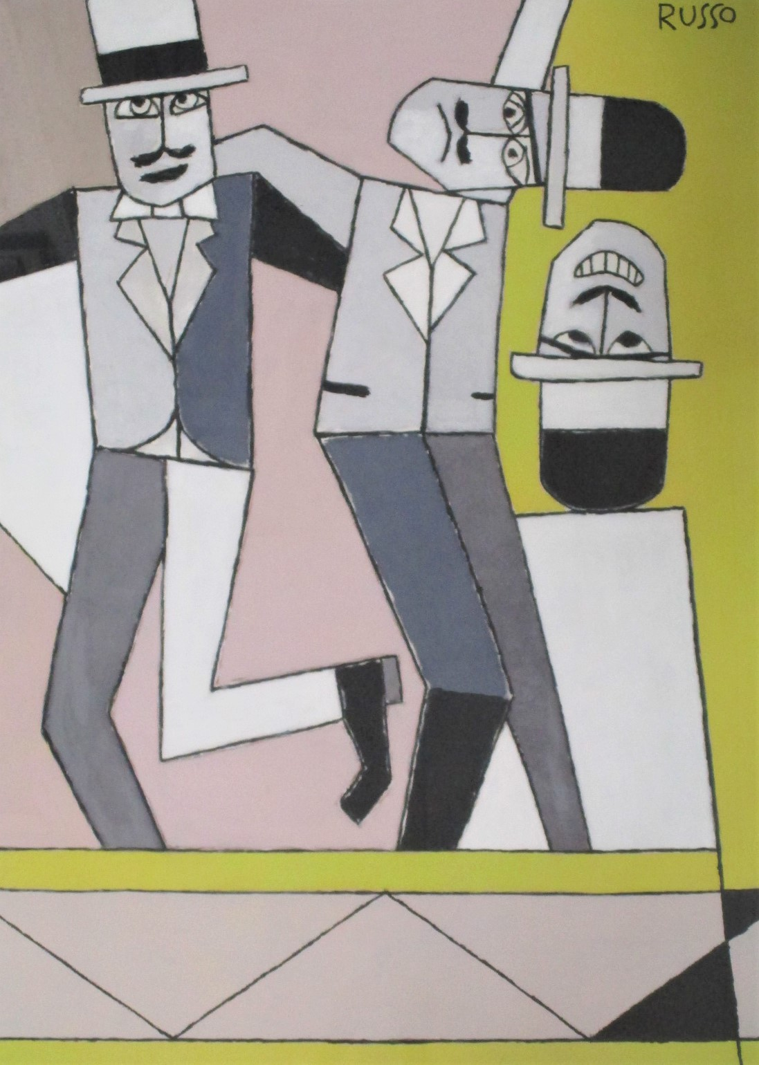 Title Unknown (3 men) by  Michele Russo - Masterpiece Online