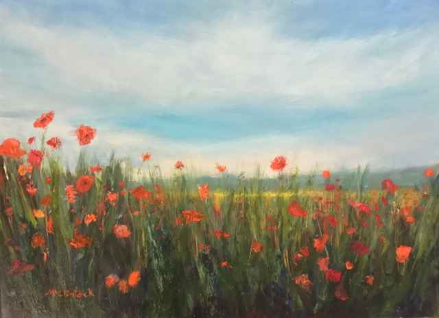 Poppy Power by  Carole McClintock  2019 - Masterpiece Online