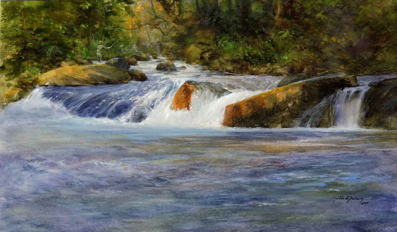Fishing the Upper Pool by  Morten E. Solberg - Masterpiece Online