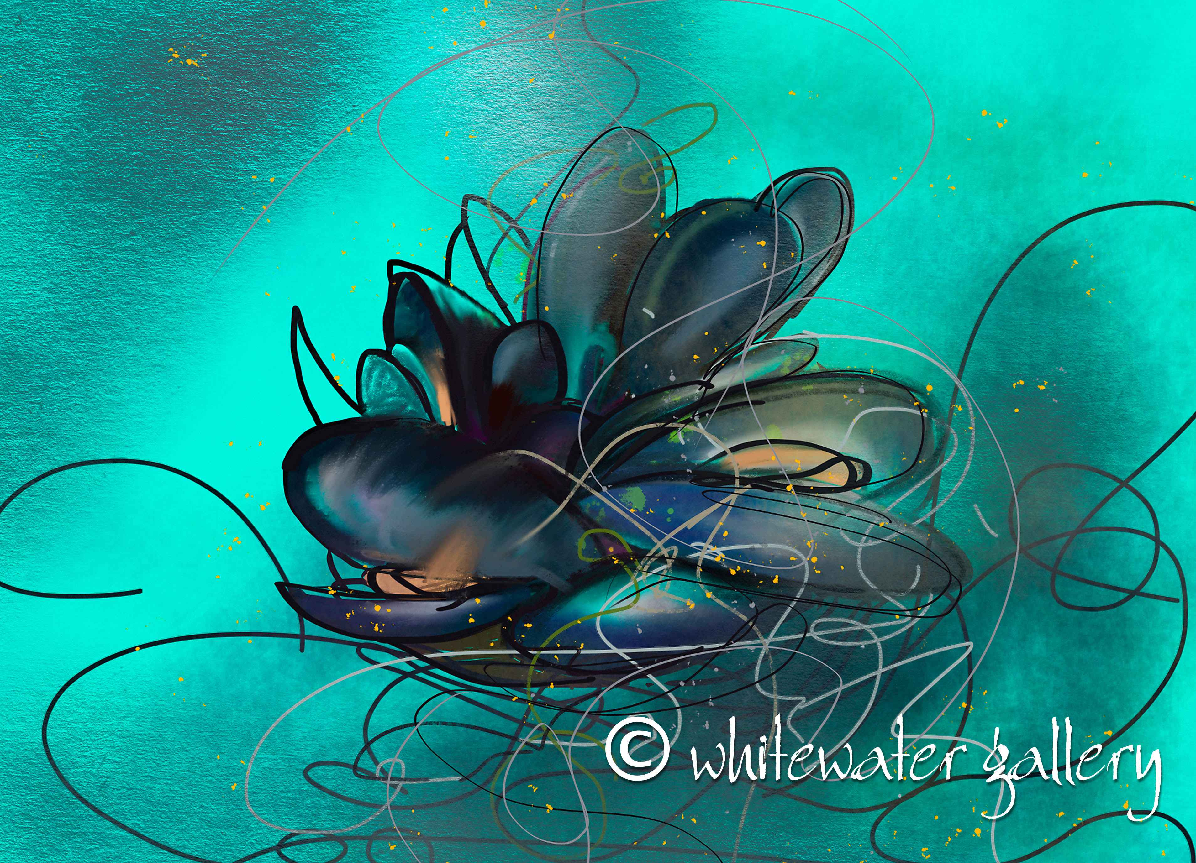 Aqua Mussels Tablemat by   Placemats & Coasters - Masterpiece Online