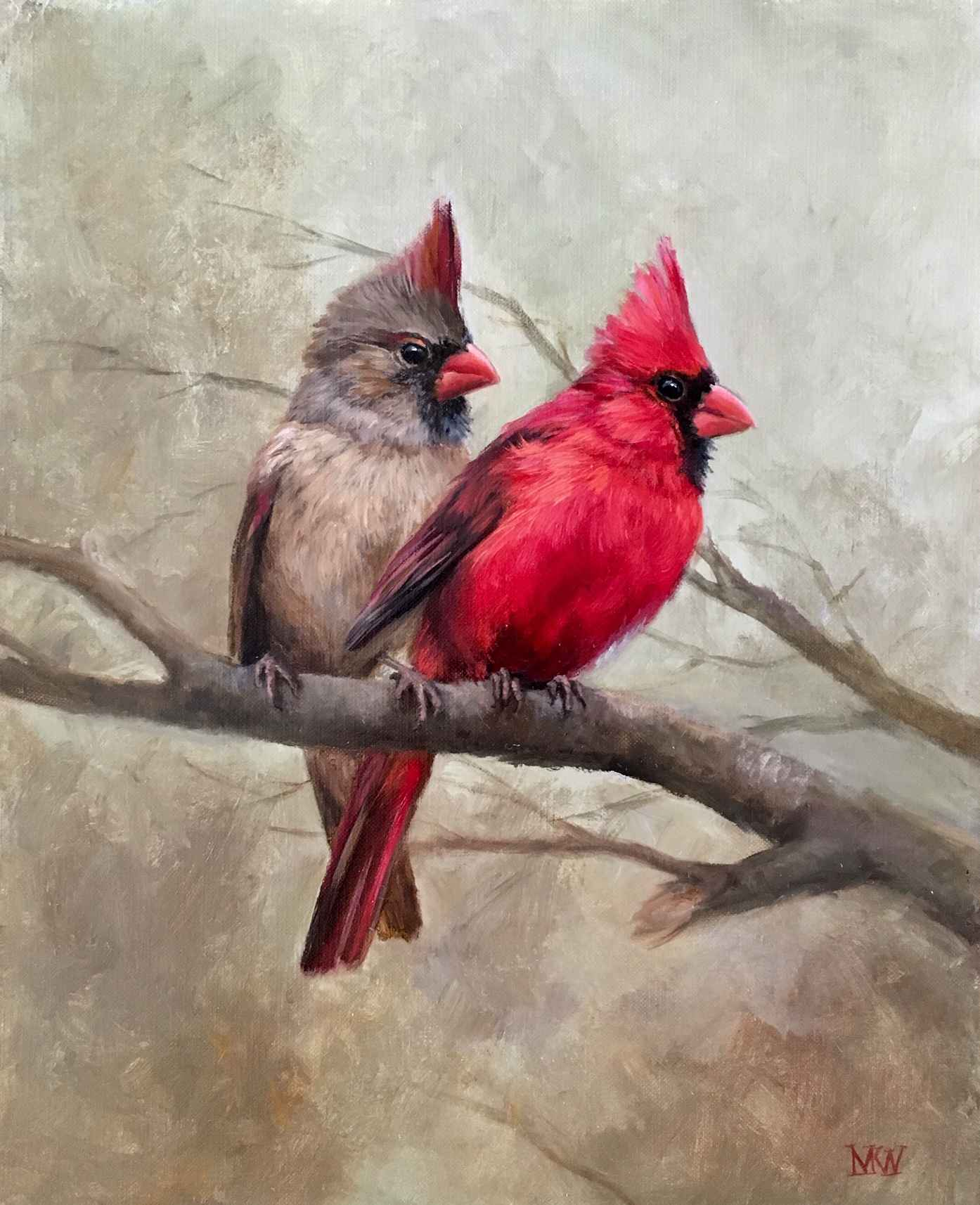 Cardinals  by  Mary Kay  West