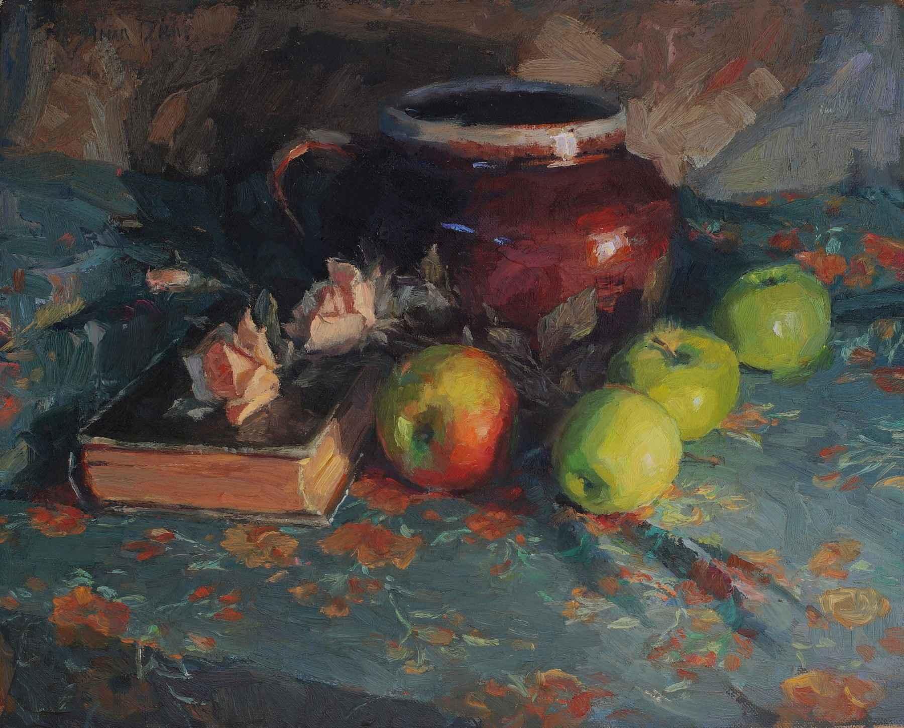 Apples and Jug by  Susan Diehl - Masterpiece Online