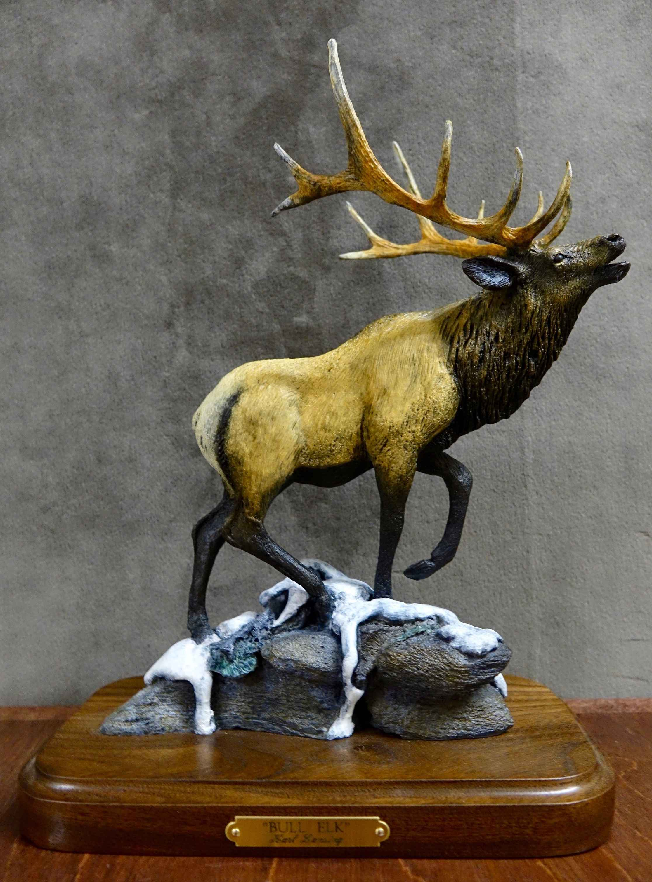 Mini's-Bull Elk #32/75 by  Karl Lansing - Masterpiece Online
