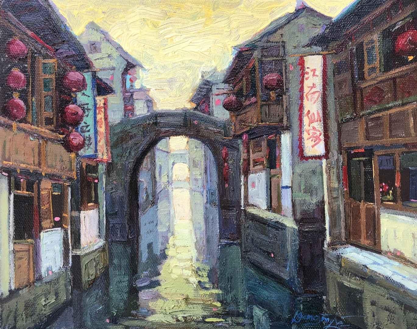 Village d'eau III by  Dongmin Lai - Masterpiece Online