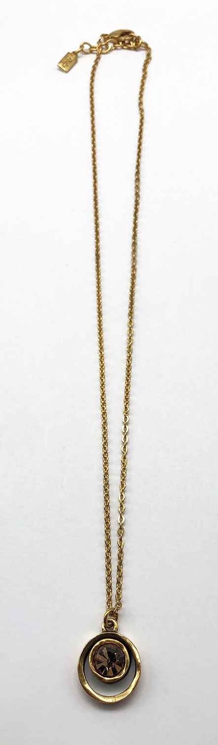 Skeeball Necklace in Gold, Light Colorado