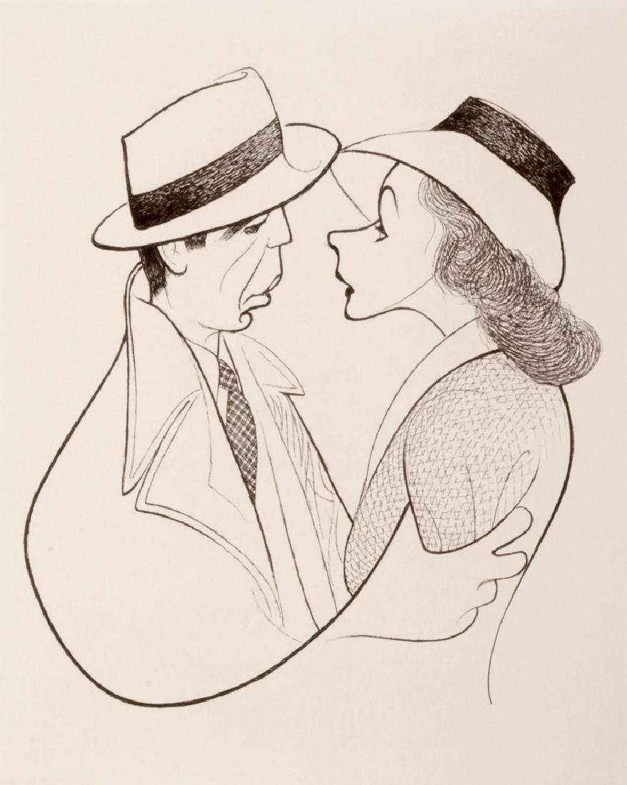 Bogart & Bergman in C... by  Al Hirschfeld - Masterpiece Online