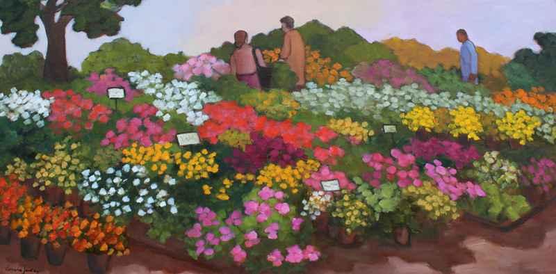 Les Fleurs au Jardin by  Lorraine  Jordan - Masterpiece Online