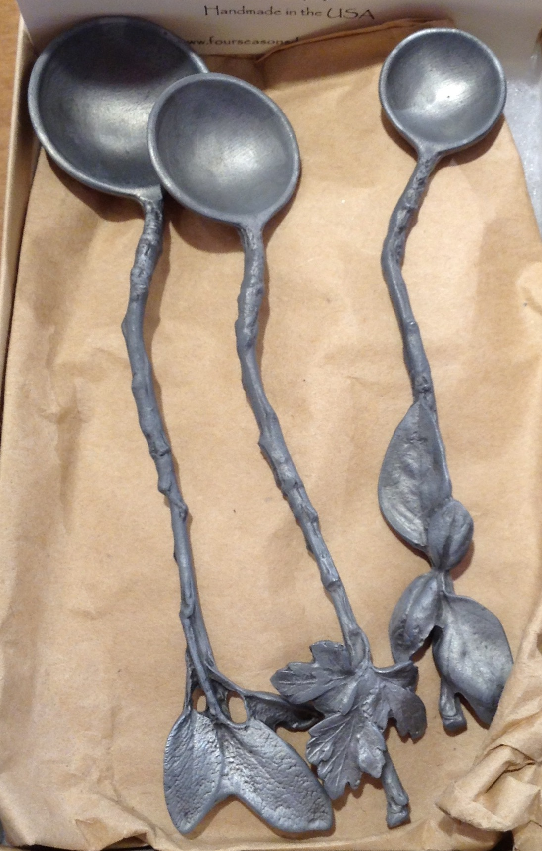 Serving Herb Spoons - Charcoal