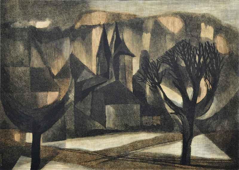 Castel de Maussac (19... by  Bernard Brussel-Smith (1914-1989) - Masterpiece Online