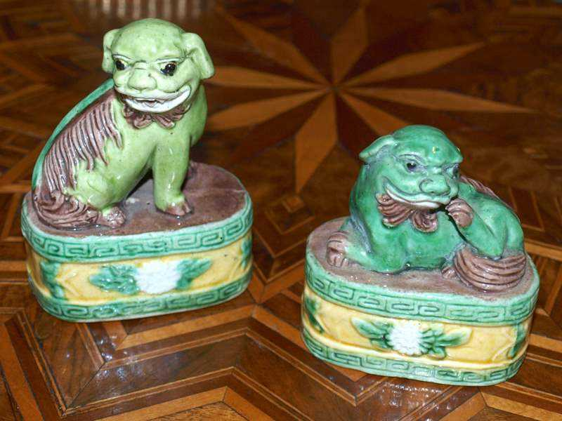 Pair of Small Foo Dogs by  Chinese  - Masterpiece Online