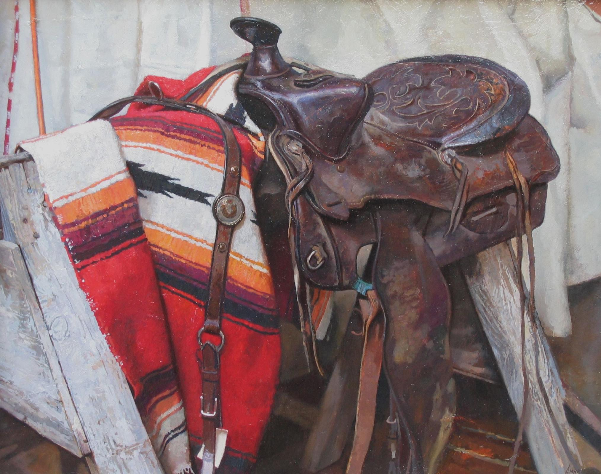 Old Saddle by  Daud Akhriev - Masterpiece Online
