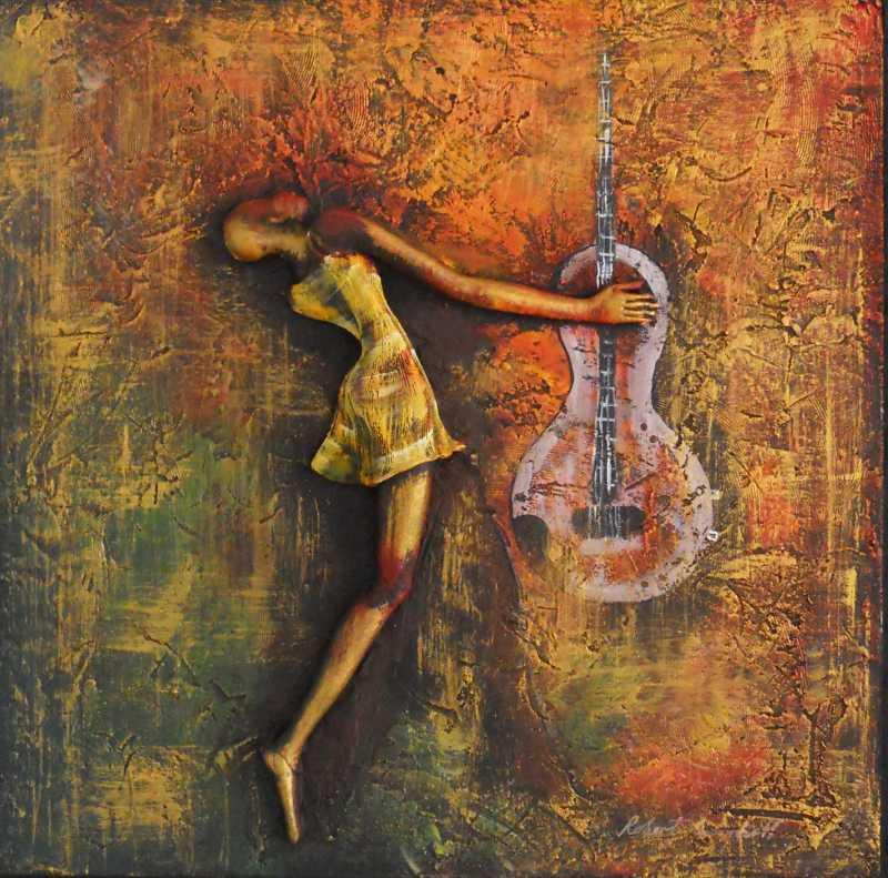 Guitarist by Mr. Robert Campbell - Masterpiece Online
