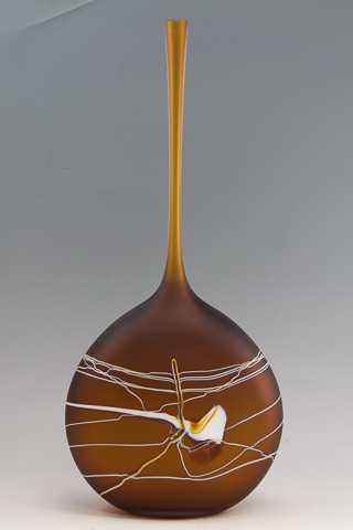 Amber Flat Bottle by  David Royce - Masterpiece Online
