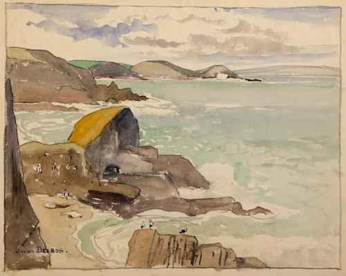 French Coast by  Julius Delbos - Masterpiece Online