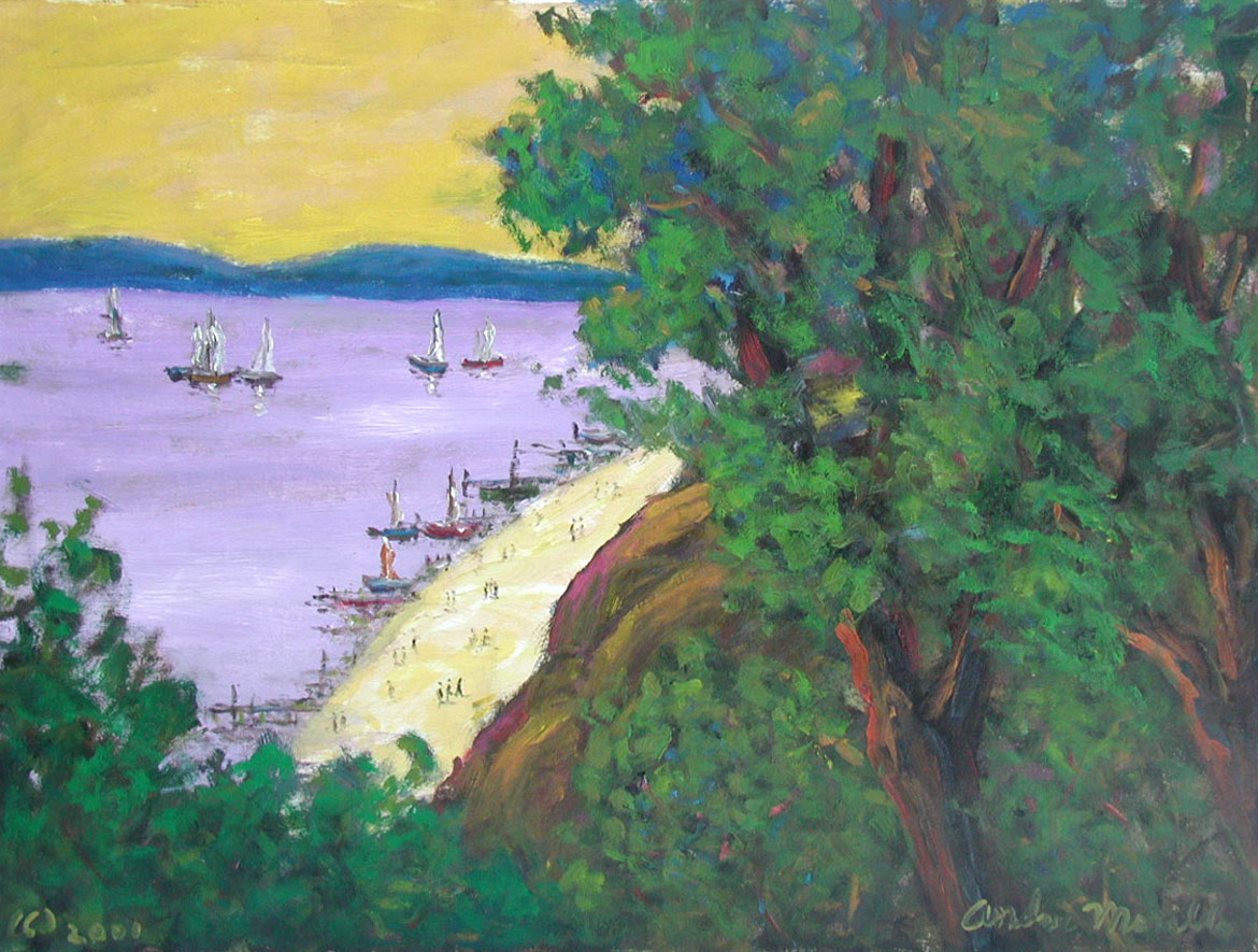View of the Bay with ... by  Andres  Morillo - Masterpiece Online
