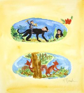 Monkeys And Squirrels by  Tiphanie Beeke - Masterpiece Online