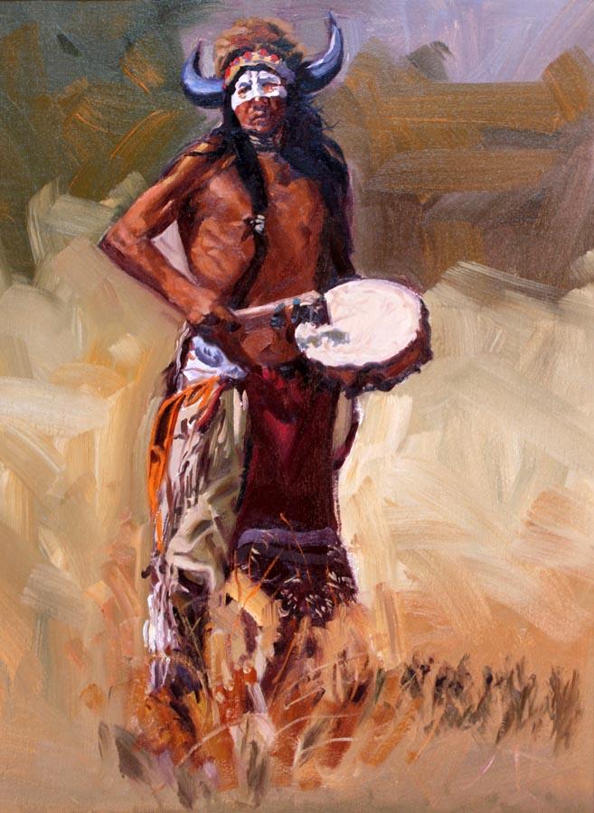 Dancing Drummer by  Glen Edwards - Masterpiece Online