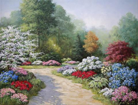 Enchanting Garden Spl... by  Peter  Motz  - Masterpiece Online