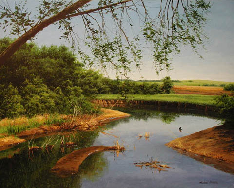 The Blue River by  Michael Wheeler - Masterpiece Online