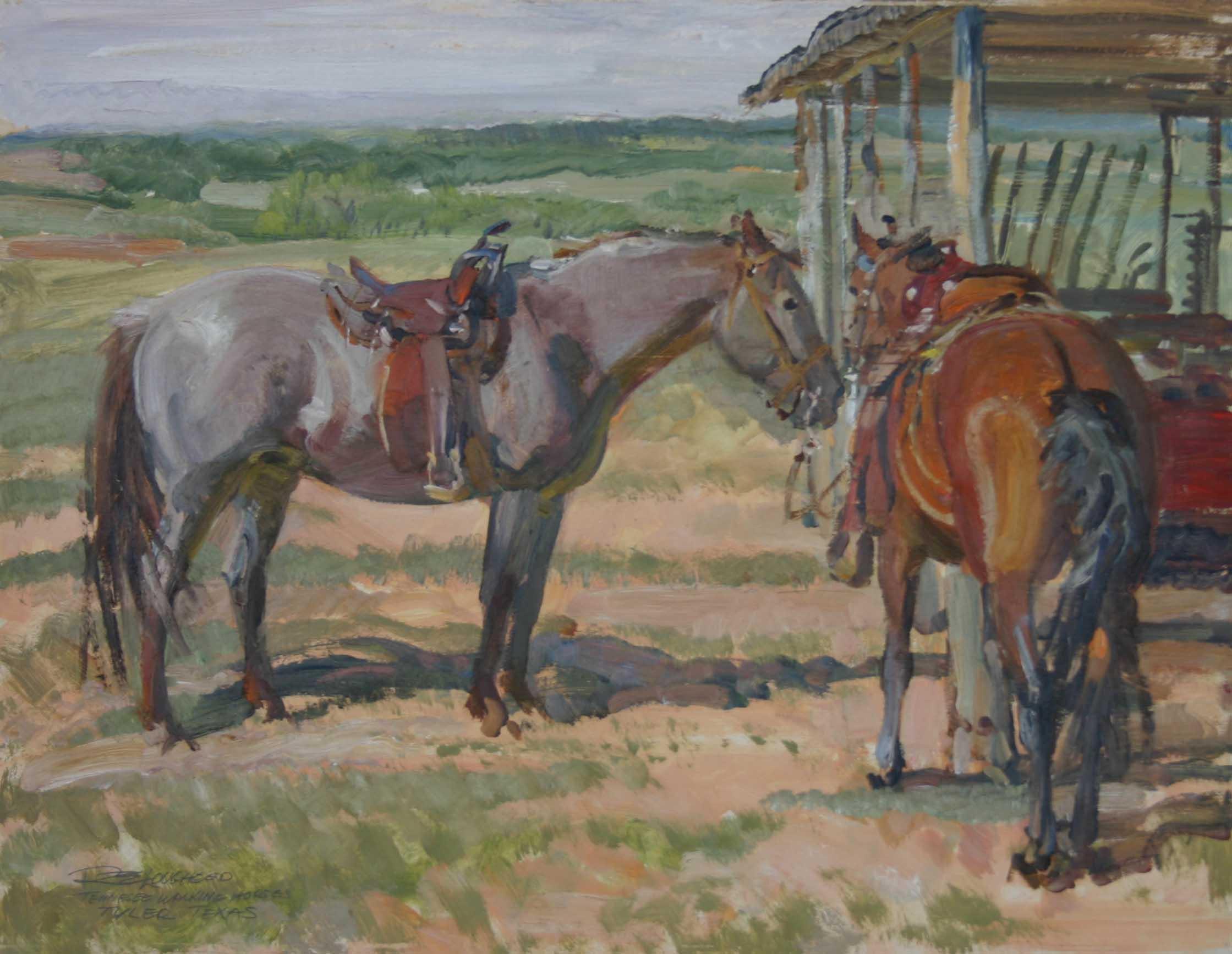 Two Tennessee Walking... by  Robert Lougheed - Masterpiece Online