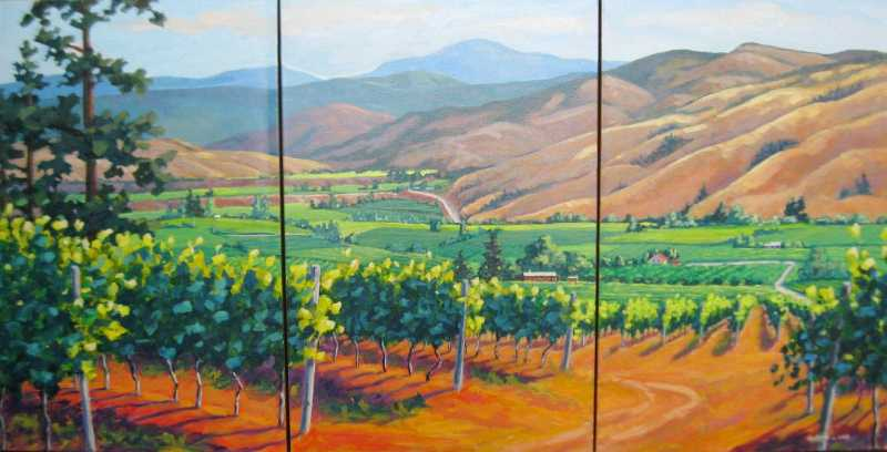 Tinhorn Creek Vineyar... by  Robyn Lake - Masterpiece Online